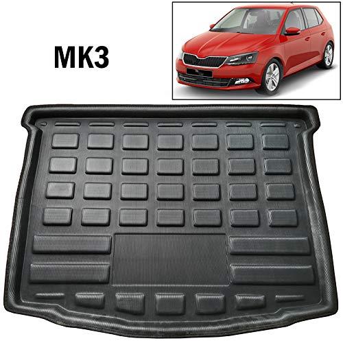 XUKEY para Fabia MK3 Hatchback 2015 2016 2017 2018 2019 Maletero Trasero Maletero Bandeja Piso Alfombra Equipaje Bandeja Barro Kick Pad a Medida