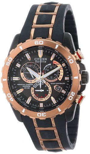 233a53782 Citizen Men's AT4028 03X Eco Drive Limited Edition Perpetual Chrono A T  Atomic Clock Synchronization Watch
