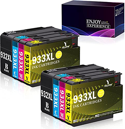 Zambrero 932 933 Replacement for HP 932XL 933XL Combo Pack Ink Cartridges High Compatible with HP Officejet 7510 6700 6600 6100 7110 7610 7612 Printer (2BK,2C,2M,2Y)