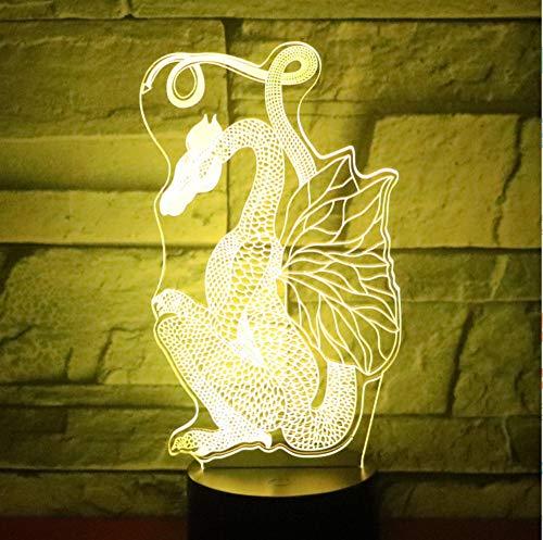 3D LED Nachtlichter Papier geschnitten Drachen Dinosaurier mit 7 Farben Licht für Heimtextilien Lampe Erstaunliche Visualisierung Optisch