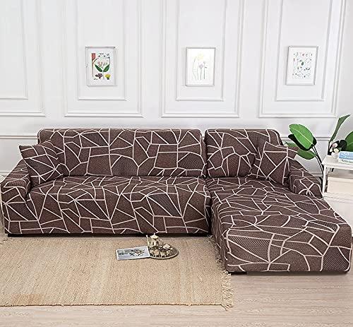 MKQB Funda de sofá elástica elástica geométrica, Funda Protectora Antideslizante para Sala de Estar, Esquina en Forma de L, Muebles modulares, sofá NO.10 S (90-140cm