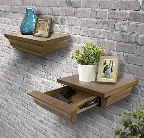 American Furniture Classics concealment decorative wall shelf, brown
