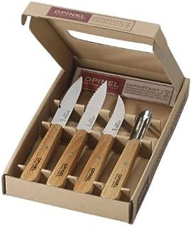 Coffret Opinel - Les Essentiels du Cuisiner - 3 Couteaux de Cuisine N 112 + 1 Eplucheur