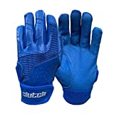 Clutch Sports Apparel Pro Series Baseball and Softball Batting Gloves for Youth and Adult - Royal Blue, Medium
