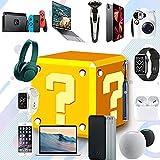 ZRSHBBAD Caja Misteriosa, una Caja de la Suerte para un Regalo Sorpresa, Productos Sorpresa para Regalos Agradables Que Pueden ser: Teléfonos Móviles, Drones, Altavoz Bluetooth, etc,001