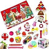 RINSX Calendario de Adviento de Navidad, calendario de cuenta regresiva de Adviento sorpresa, caja ciega de año nuevo antiestrés, caja de juguetes (12)