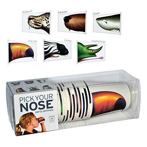 Partybekerset ''Pick your Nose-Animals' | Kartonnen bekers | Prijs aan Stiel® 1 Packung