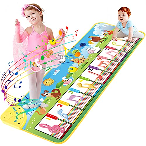 UNTIL YOU Piano Mat,Musical Mat,Kids Touch Play Piano Dance Mat with 8...