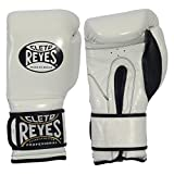 Cleto Reyes Hook and Loop Boxing Training Gloves, White, 14 OZ