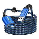 NIMASO 3M Cable Alargador USB 3.0, Cable USB 3.0 Macho A Hembra Super Rápida 5 Gbps para Mouse,Teclado,Pendrive,Disco Externo,TV,Concentrador,Impresora,Computadora, Cámara, Gafas VR y Otros-Azul