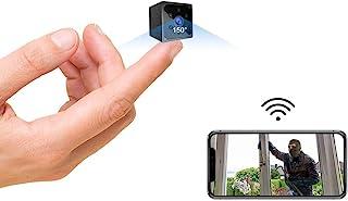 Telecamera Nascosta,AOBO 4K HD Mini Telecamera Spia Wifi Portatile Microcamera con Visione Notturna Piccole Videocamera di...
