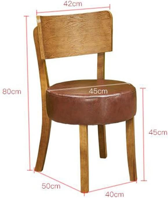 AJZGFChaise de salle à manger, chaise de cuisine Chaise longue en bois massif, tabouret à manger chaise, chaise de café minimaliste moderne, fauteuil (Color : Light gray) Beige