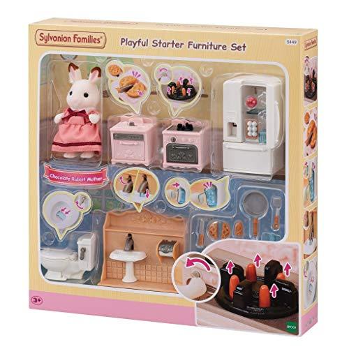 Sylvanian Families 5449 Juego de Muebles de Inicio juguetón Accesorios para casa de muñecas