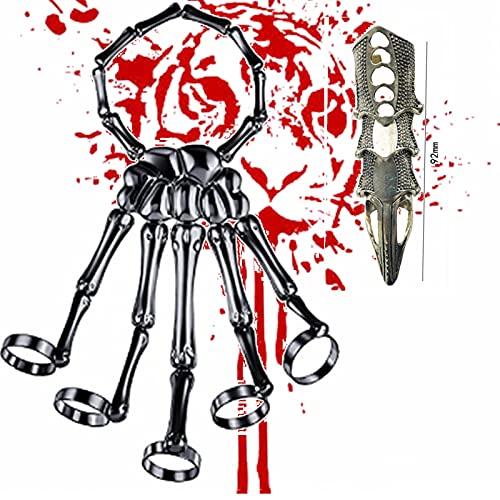Pulsera de esqueleto con diseño de calavera y esqueleto de esqueleto