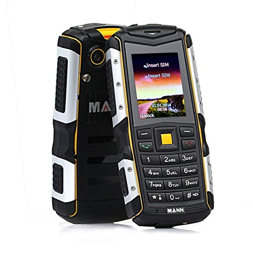 IP67 MANN ZUGS Shockproof Dust Proof Waterproof Rugged Tough Smart phone Yellow