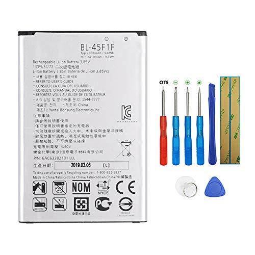Swark BL-45F1F - Batería compatible con LG K8 K4 2017 M160 Aristo M210 M210 con herramientas