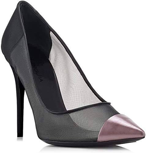 NIUYUAN Alons Hauts Pour Femmes Sandales Pointues En Filet De Pêche Talon Haut Et Fin Sandales De Couleur Assortie,violet,40