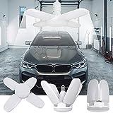 Kimjo Luci da Garage a LED, E27 60W 6500K Bianco Freddo 5400LM Deformabile Lampada da Gara...