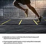 Starbun Velocidad de fútbol - 4m balón de fútbol de fútbol Flexibilidad Velocidad Entrenamiento de la Aptitud de Salto de Escalera