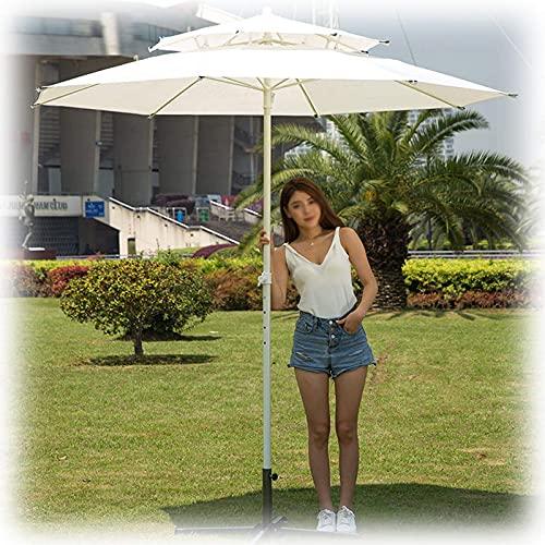 2.5m / 3m Sombrilla para jardín y Patio Sombrilla Redonda para Exterior para Piscina/balcón/Banco/sombrillas de Playa Hawaianas con manivela y función de inclinación, Impermeable