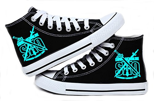 Telacos SAO Sword Art Online Cosplay Shoes Canvas Shoes Sneakers Luminous 1