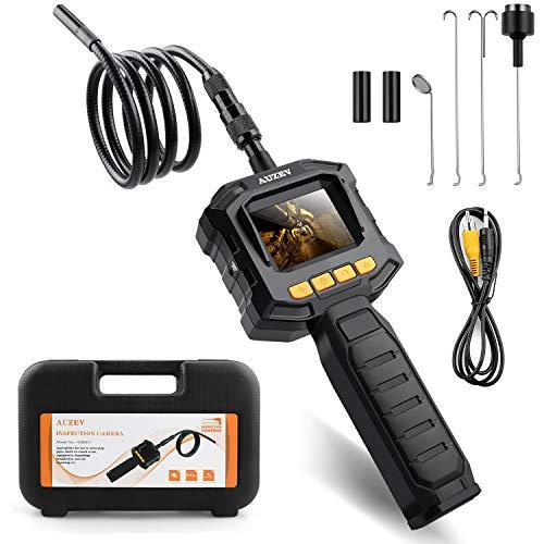 Auzev Endoskopkamera 2,31 Zoll Monitor 1 Meter, Flexible endoskopkamera Boreskop Hand Digitales Inspektionskamera für Kfz-Bereich, 8 Stufe Einstellbare Helligkeit und 8mm Durchmesser