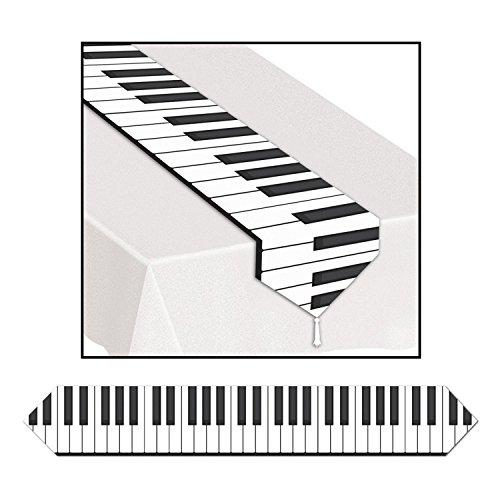Club Pack of 12 Printed Piano Keyboard Table Runner 6'