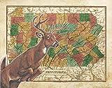 Apple Creek Pennsylvania State Map Whitetail...