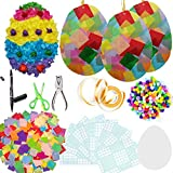 Exquiss 1600 Set of Easter Suncatcher Crafts Suncatcher Egg Crafts with 14 Colors of Tissue Paper Squares and Craft Kits for Kids Easter Crafts Contact Paper Suncatchers Easter DIY Activities (1600)