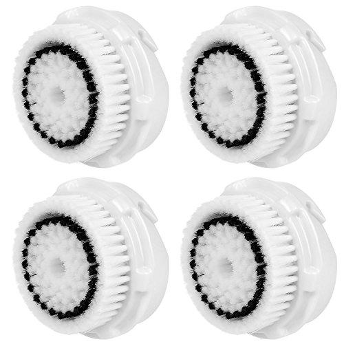4 x cabezas de cepillo E-Cron Cabezal de cepillo compatible para la limpieza facial para la piel sensible de Clarisonic (Sensitive).