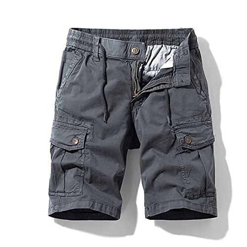 Katenyl Pantalones Cortos para Hombre Pantalones Cortos de Carga de Trabajo de Combate al Aire Libre de Moda Ropa de Calle de Moda Pantalones Cortos Deportivos Casuales con múltiples Bolsillos 32
