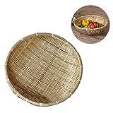 gancunsh Aufbewahrungskorb, natürliche, handgefertigte Bambuskörbe für Obst und Gemüse