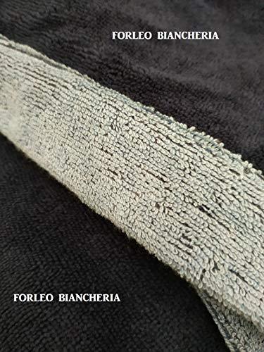 GFFerrari Bademantel aus Bambusfaser Taglia XL Blu/Azzurro