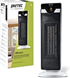 Imetec Eco Ceramic Diffusion, Stufetta elettrica, Termoventilatore, Corpo Oscillante, Tecnologia Ceramica, Basso Consumo Energetico, 6 Funzioni di Temperatura, Timer