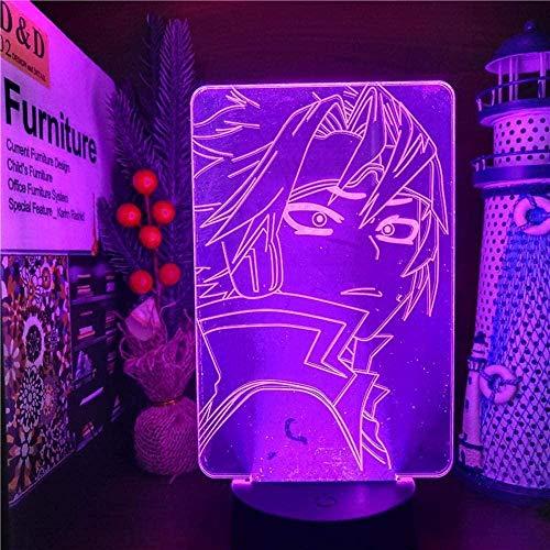 GEZHF My Hero Academia 3D Anime Visual Night Lights para niños Denki Kaminari Girl dormitorio Figura Boku no Hero Academia Light 7 colores Touch Illusion Lámpara de mesa