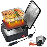 SabotHeat Portable Car Microwave - 12V 90W Mini Personal Car Oven with On/Off Switch for Reheating & Raw Food Cooking, Fast Heating Food Warmer for Trip, Outdoor Work, Camping (Black)
