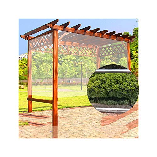 XYUfly20 Store À Enrouleur Transparent À Main Rideaux Transparents pour Fenêtres/Portes avec Trous Coupe-Vent Panneaux Latéraux en PVC Épaissis du Pavillon Facile À Installer