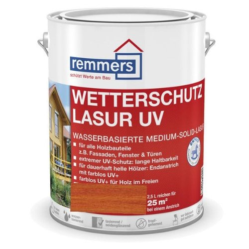 Remmers Wetterschutz-Lasur UV - mahagoni 2,5L