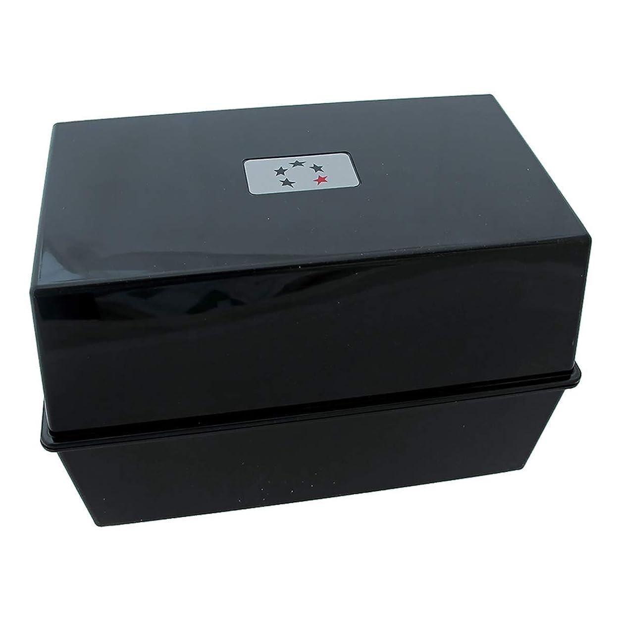 吐き出す人工的な縁石アジェンダ サロンコンセプト カードインデックスボックスブラック(A-Zカード含む)[海外直送品] [並行輸入品]