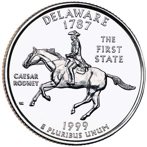 1999 S Clad Proof Deleware State Quarter Choice Uncirculated...