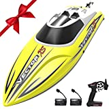 VOLANTEXRC Remote Control Boat RC Boat for Pool and Lakes, 20mph High Speed RC Boat VectorXS with Self-righting Feature, Reverse Function for Kids or Adults (795-4 Yellow)