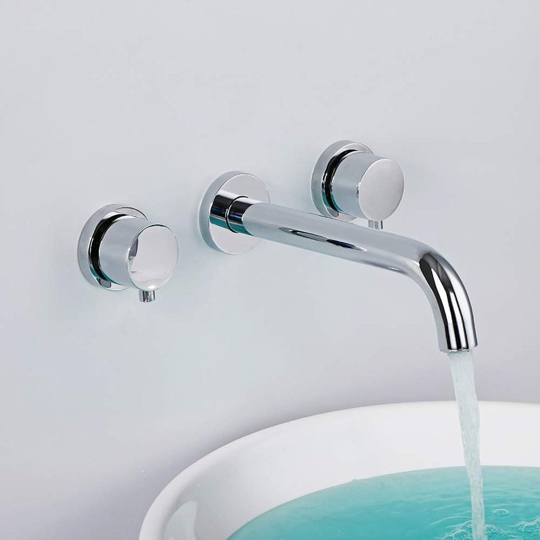BEANDENG Waschbecken Wasserhahn, Waschbecken Wasserhahn Chrom Wasserhahn Heien Und Kalten Wasserhahn Doppelgriff Wasserhahn