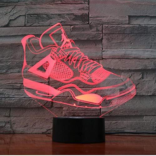 Meerdere kleurrijke Usb-sneakerschoenen 3D illusie lamp kinderkamer slaaplicht led-tafellamp kind nachtlampje partygeschenken afstandsbediening bluetooth control kleur