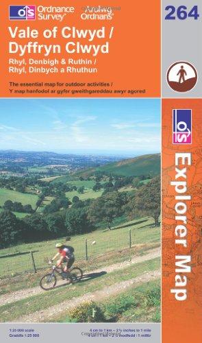OS Explorer map 264 : Vale of Clwyd / Dyffryn Clwyd