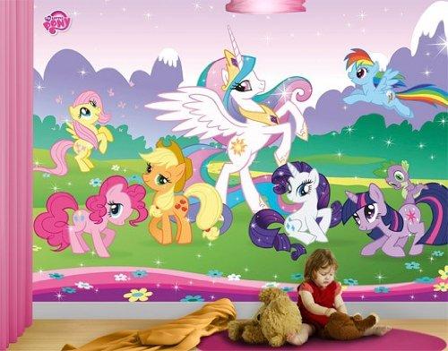 Apalis Fotomural Adhesivo My Little Pony - Fairy Tale World, Größe:270cm x 360cm