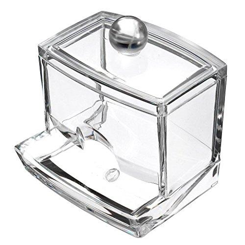 Topteck - Caja acrílica para bastoncillos de algodón