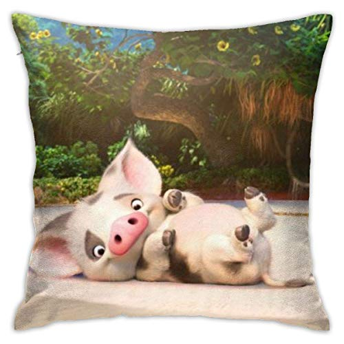 FETEAM The DIS-Ney Moa-na Throw Pillow Covers 18 'X 18' Inch Sofa Home Decor Square Pillowcase Funda de Almohada Decorativa para la Cintura