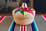 Original mexikanischen handgewebte tortillero, Fiesta mexikanischen Tortilla Wärmer, Tortilla Halter, Tortilla Keeper, tortilleros MEXICANOS Para Fiesta-Beinhaltet kleinere Größe...