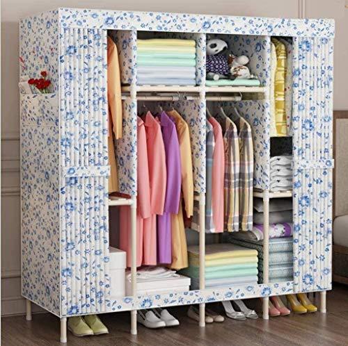 Kleiderschränke Doppelmassivholz einfach Stoff Folding Tuch, Oxford Tuch-Kleidung-Speicher, Stärkung der Lagerung Schrank, Kleidung Speicherorganisators Liuyu.