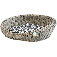 Me & My Pets Woven Pet Bed - Basket style design - Grey wash finish Ideal for puppies & dogs - Please ensure measurements are suitable for your pet before purchasing Raised back & sides create a safe & cosy sleeping spot for your pet - Fully washable...
